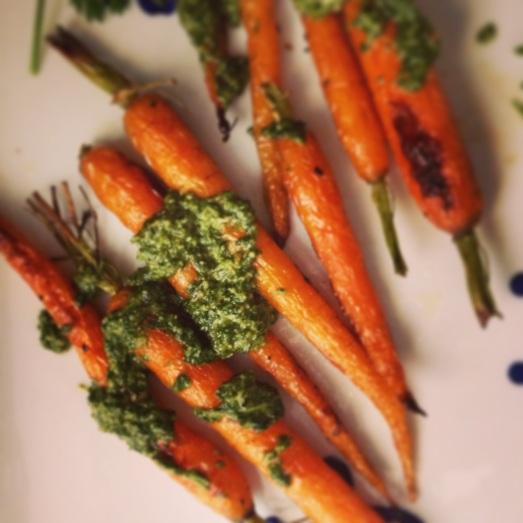 carrots w carrot pesto