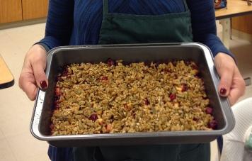spiced cranberry apple crisp crop