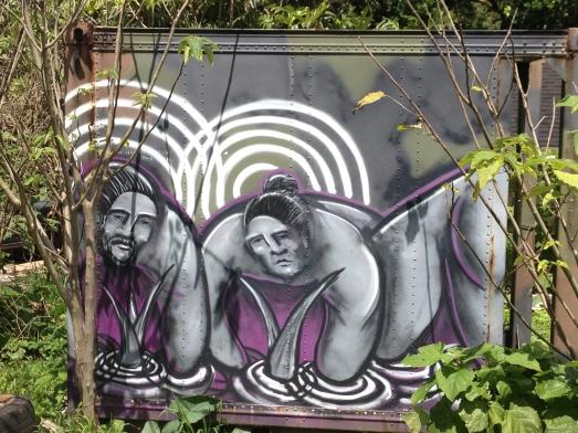 street art planting taro