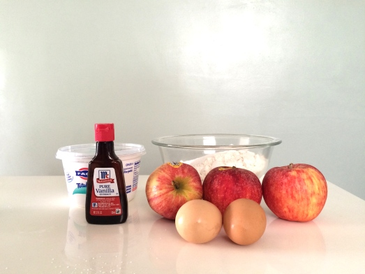 apple pancake mise